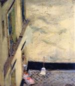 Edouard Vuillard  - Bilder Gemälde - Broom in the Yard