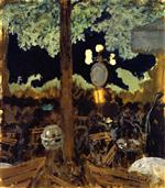 Edouard Vuillard  - Bilder Gemälde - Café in the Bois de Boulogne at Night