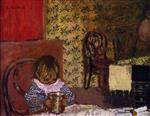 Edouard Vuillard  - Bilder Gemälde - Child at the Table