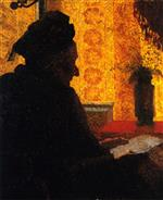 Edouard Vuillard  - Bilder Gemälde - Grandmother Michaud in Silhouette
