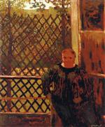 Edouard Vuillard  - Bilder Gemälde - In Front of the Window with Trellis