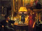 Edouard Vuillard  - Bilder Gemälde - In the Salon, Evening, Rue de Naples