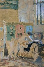 Edouard Vuillard  - Bilder Gemälde - Interior with a Screen