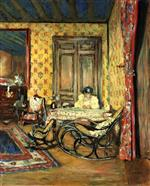 Edouard Vuillard  - Bilder Gemälde - Interior with Rocking Chairs