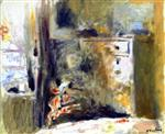 Edouard Vuillard  - Bilder Gemälde - Interior with Woman Sewing