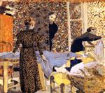Edouard Vuillard  - Bilder Gemälde - Interior with Work Table