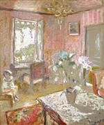 Edouard Vuillard  - Bilder Gemälde - La chambre rose (The Pink Bedroom)
