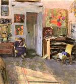Edouard Vuillard  - Bilder Gemälde - Lucie Belin in the Studio