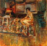 Edouard Vuillard  - Bilder Gemälde - Nude on an Orange Rug