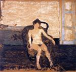 Edouard Vuillard  - Bilder Gemälde - Nude Seated in an Armchair