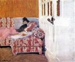 Edouard Vuillard  - Bilder Gemälde - On the Sofa