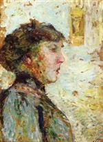 Edouard Vuillard  - Bilder Gemälde - Portrait of a Woman in Profile