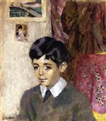 Edouard Vuillard  - Bilder Gemälde - Portrait of Jacques Laroche, Child
