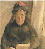 Edouard Vuillard  - Bilder Gemälde - Portrait of my grandmother
