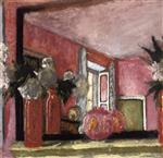 Edouard Vuillard  - Bilder Gemälde - Reflections in a Mirror on the Mantle Piece