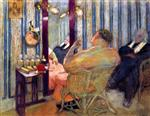 Edouard Vuillard  - Bilder Gemälde - Sacha Guitry in His Dressing Room