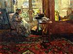 Edouard Vuillard  - Bilder Gemälde - Seamstress in front of the Window