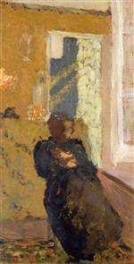Edouard Vuillard  - Bilder Gemälde - Seated Woman Dressed in Black