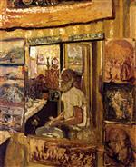 Edouard Vuillard  - Bilder Gemälde - Self-Portrait in the Dressing-Room Mirror