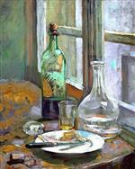 Edouard Vuillard  - Bilder Gemälde - Still Life with Bottle and Jug