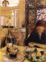 Edouard Vuillard  - Bilder Gemälde - The Artist's Mother Reading