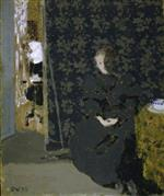 Edouard Vuillard  - Bilder Gemälde - The Artist's Sister with a Cup of Coffee