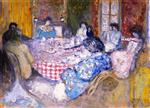 Edouard Vuillard  - Bilder Gemälde - The Checkered Tablecloth