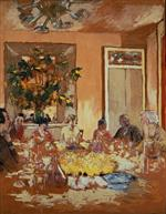 Edouard Vuillard  - Bilder Gemälde - The Dining Room at Clayes Chateau