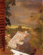Edouard Vuillard  - Bilder Gemälde - Window on Lac Léman