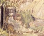 Edouard Vuillard  - Bilder Gemälde - Woman and Girl in a Landscape