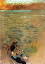 Edouard Vuillard  - Bilder Gemälde - Woman by the Sea