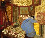 Edouard Vuillard  - Bilder Gemälde - Woman in Blue with Child