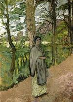 Edouard Vuillard  - Bilder Gemälde - Woman in Grey in a Lane
