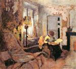 Edouard Vuillard  - Bilder Gemälde - Woman Reading