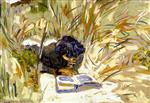 Edouard Vuillard  - Bilder Gemälde - Woman Reading in the Reads, Saint-Jacut