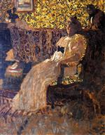 Edouard Vuillard  - Bilder Gemälde - Woman Seated in a Chair