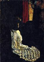 Edouard Vuillard  - Bilder Gemälde - Woman Seated in a Dark Room