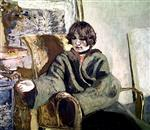 Edouard Vuillard  - Bilder Gemälde - Woman seated next to a stove