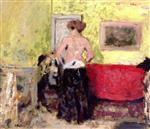 Edouard Vuillard  - Bilder Gemälde - Woman Undressing, from Behind