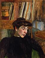 Edouard Vuillard  - Bilder Gemälde - Woman with Black Eyebrows