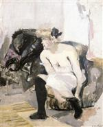 Edouard Vuillard  - Bilder Gemälde - Woman with Black Stockings