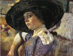 Edouard Vuillard  - Bilder Gemälde - Woman with Hat