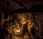 Joseph Wright of Derby - Bilder Gemälde - An Iron Forge
