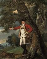 Joseph Wright of Derby  - Bilder Gemälde - Portrait of Colonel Charles Heathcote