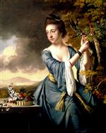 Joseph Wright of Derby  - Bilder Gemälde - Portrait of Elizabeth, Mrs John Bostock