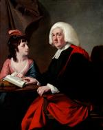 Joseph Wright of Derby  - Bilder Gemälde - Portrait of the Rev.Thoms Wilson D.D. and his Adopted Daughter, Miss Catherine Macauley