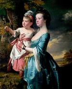Joseph Wright of Derby  - Bilder Gemälde - Sarah Carver and Her Daughter Sarah