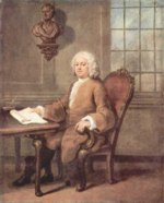 William Hogarth - Bilder Gemälde - Portrait des Dr. Benjamin Hoaldy
