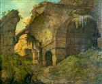 Joseph Wright of Derby  - Bilder Gemälde - The Colosseum, Rome, by Daylight