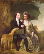 Joseph Wright of Derby  - Bilder Gemälde - The Rev. and Mrs Thomas Gisborne of Yoxhall Lodge, Leicestershire